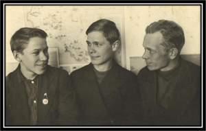 1939год. Денисов М., Богодухов М., Каверзнев