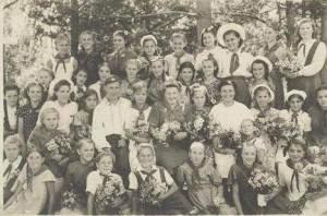 Пионерский лагерь БОР, Рудничный район, 1949г.