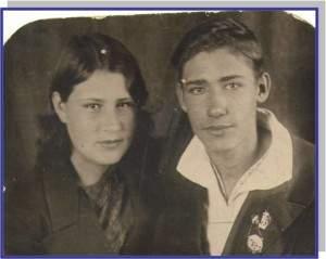 Зинов Михаил и Лобузнова Федосья, 28 мая 1939 года.