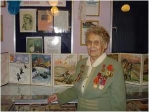 Тарасова А.Ф. в музее школы №16 Кемерово