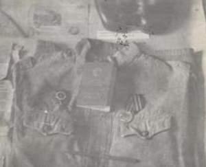 Военная форма и боевые ордена Е.Ф. Земцова