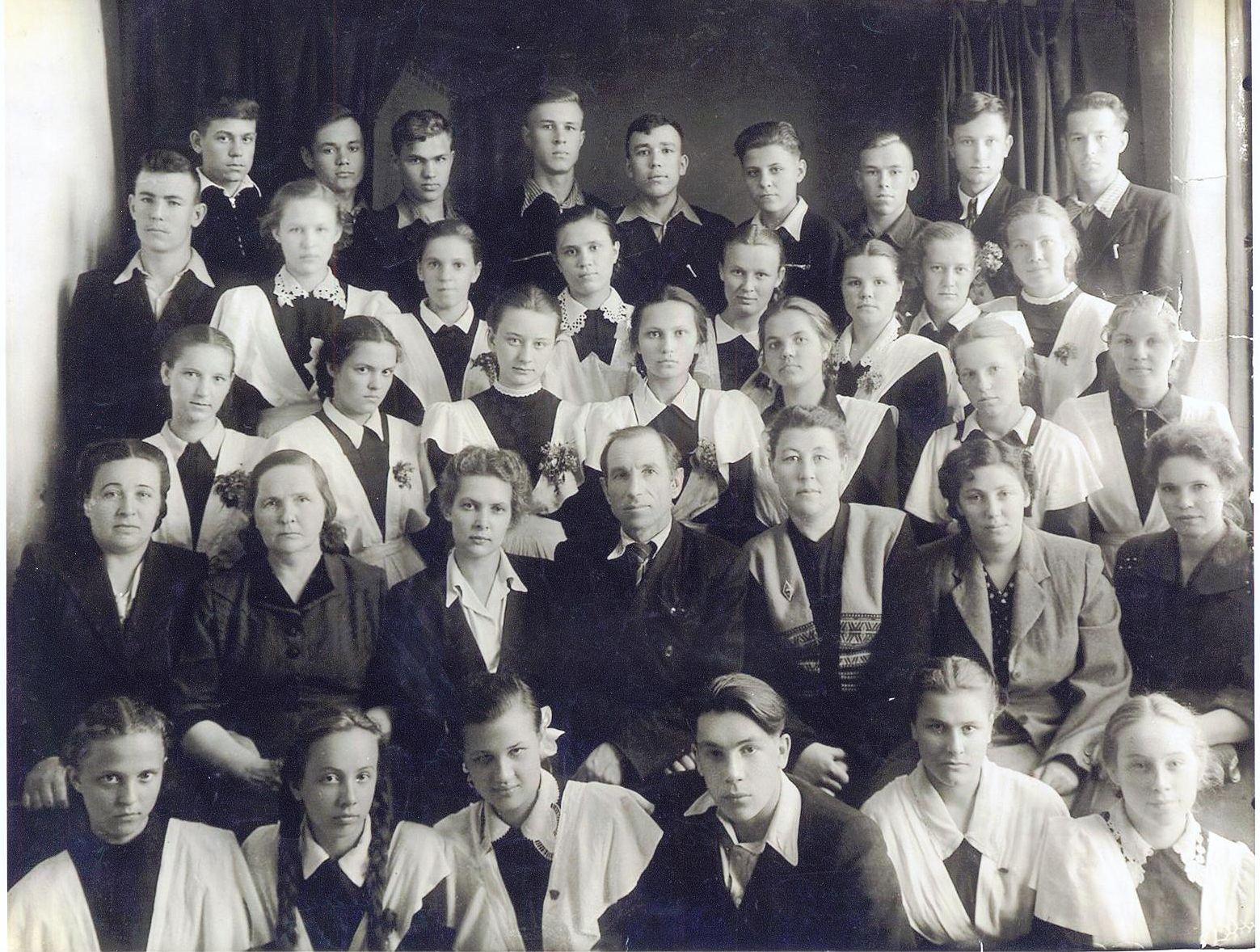 1955 год 10 кл. школа 16 Кемерово