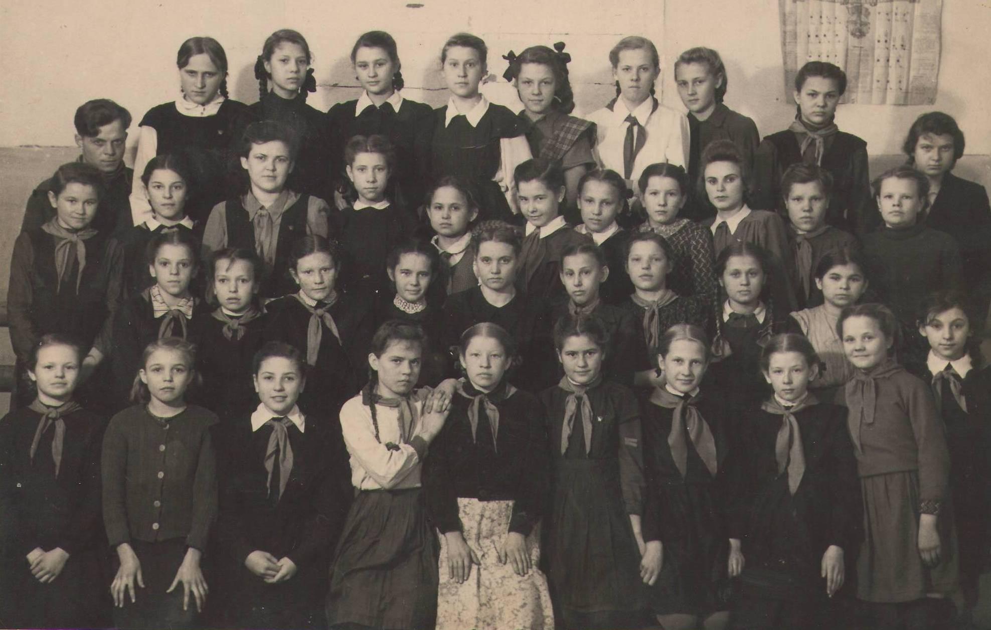 1950 год 6 в кл. школа 16 Кемерово