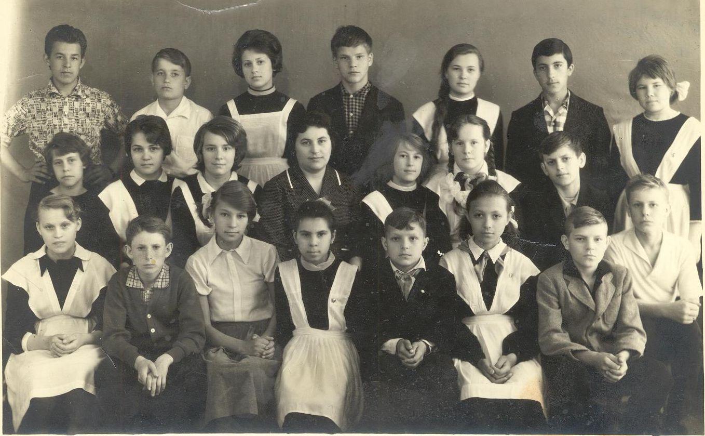 1964 год 7 В класс, Момот В.П., фото Снеговой Т.М. школа 16 Кемерово