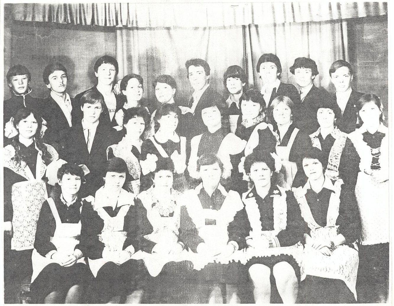 1982 год 10 кл учитель Буданаева Скворцова Нина Александровна школа 16 Кемерово