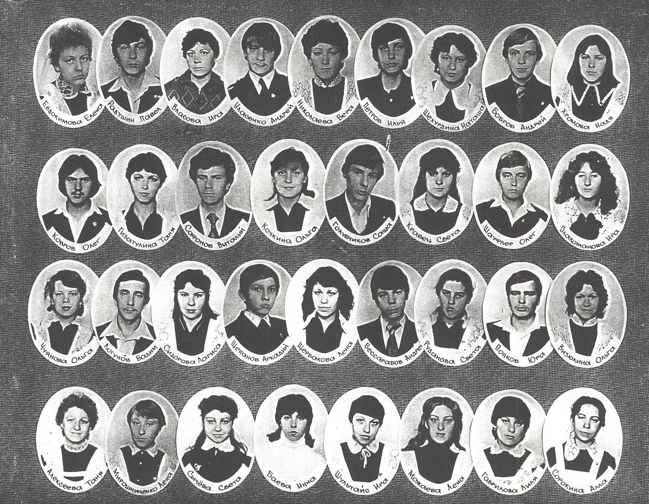 1983 год 10 кл учитель Полевщикова Татьяна Павловна школа 16 Кемерово