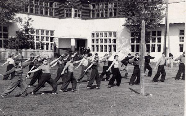 30-е гг. Урок физкультуры школа 16 Кемерово
